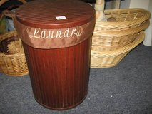 Wooden Lined Laundry Hamper in Perry, Georgia