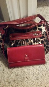 Leopard print purse with wallet in Conroe, Texas