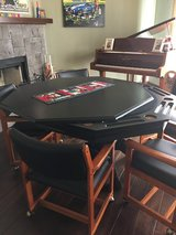 Dining/poker table black with 6 chairs in Oceanside, California