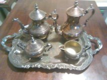 Ornate tea set in Camp Lejeune, North Carolina