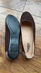 Ethically Handmade Brown Flats in Naperville, Illinois