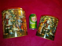 New - German Traditional Christmas Theme Tin Set of 2 in Ramstein, Germany
