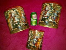 Newish - German Traditional Christmas Theme Tin Set of 3 in Ramstein, Germany
