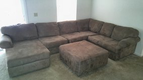 Microfiber Sectional Couch in Fort Rucker, Alabama