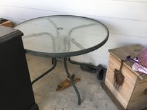 round glass top patio table in bookoo, US
