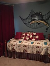 Twin daybed with twin trundle; 2 comforters included in Eglin AFB, Florida