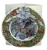 """NEW!! 15 Ampersand Studio 3D Pop Up Christmas Greeting Card – """"Christmas Presents/Wreath"""" in Bartlett, Illinois"""
