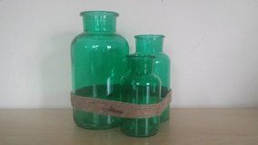 NEW - Blue-green Bottles with Rope Accents (2 available) in Chicago, Illinois