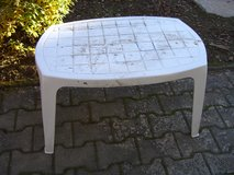 small white plastic table in Ramstein, Germany