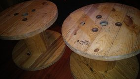 wooden spools/end tables/coffee table in Kingwood, Texas