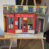 Small Canvas Painting in San Clemente, California