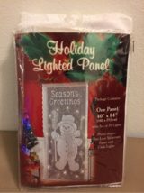 Lighted Christmas panel for door in Pearl Harbor, Hawaii