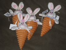 NWT plush bunny carrots in Glendale Heights, Illinois