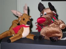 2  toy plush reindeer in St. Charles, Illinois