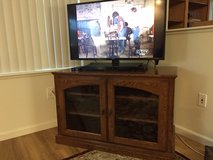 Woodley's Oak Chestnut Oak Stained T.V. / Entertainment Cabinet in Colorado Springs, Colorado