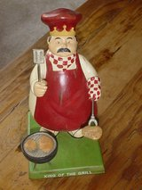 Bobble Head BBQ Grill Master King Collectible in Schaumburg, Illinois