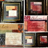 Set of 2 Pictures w/Bible Sayings in Aurora, Illinois
