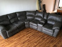 Sectional leather couch in Schofield Barracks, Hawaii