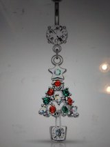 Christmas tree belly ring in Camp Lejeune, North Carolina