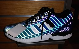 NEW Men's Adidas ZX Flux Xeno rainbow reflective sneakers Size 11 in Hinesville, Georgia