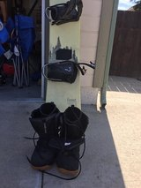 Snowboard, Bindings and Snowboard Boots in Camp Pendleton, California