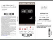 2 VIP Justin Bieber tickets in Cambridge, UK