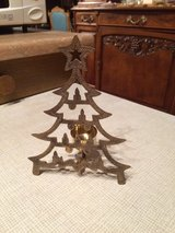 Brass Christmas tree candle holder in Ramstein, Germany