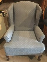 Queen Anne's wingback chair in Morris, Illinois