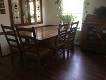 Table and hutch/solid wood in Kingwood, Texas