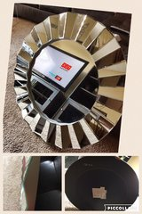 Large beveled wall mirror in Hinesville, Georgia
