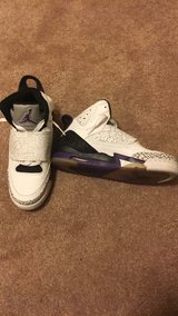 White,Black and Purple Jordan's in Fort Drum, New York