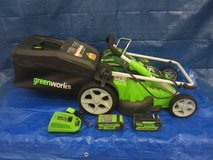 Greenworks 40V 2 batteries Cordless Dual Blade Walk-Behind Lawn Mower in Glendale Heights, Illinois