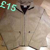 NEXT Beige Suede Jacket in Lakenheath, UK
