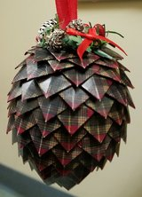 Hand made pine cone Christmas ornaments in Columbus, Georgia