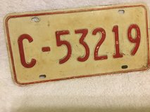 VINTAGE 1960's US MILITARY FORCES ITALY LICENSE PLATE in Okinawa, Japan