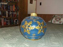 BLUE KRINGLE LIGHTED SNOWFLAKE BALL (2) in Alamogordo, New Mexico