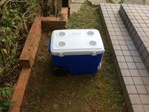 Cooler with wheels and handle in Okinawa, Japan