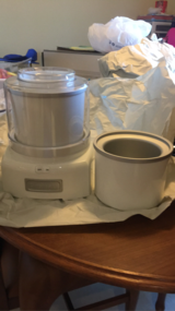 Reduced! Cuisinart Ice Cream Maker Must Go! in Okinawa, Japan