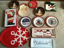 Variety of Christmas serving trays & cookie plates in St. Charles, Illinois