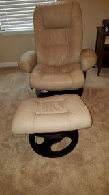 Tan leather recliner in Jacksonville, Florida