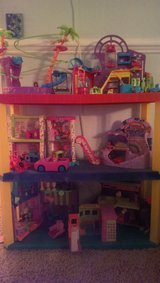 polly pocket collection with display shelve in Fairfield, California