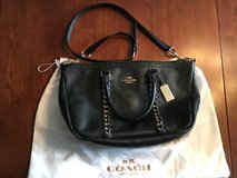 Coach Large Black Satchel with Gold Trim in Camp Lejeune, North Carolina