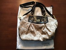 Coach Tan & Brown Signature Satchel With Dust Cover in Camp Lejeune, North Carolina