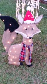 Lighted Christmas Fox Outdoor Lawn Decoration in Pensacola, Florida