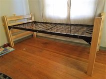 Bed, futon couch and new twin mattress in Alamogordo, New Mexico
