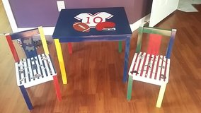 sports theme table and chairs in Conroe, Texas