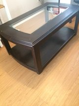 Large Coffee table glass inlay and 2 side tables in Fort Bliss, Texas