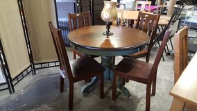 Round table and chairs in Fort Bliss, Texas