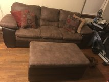 Simons couch and ottoman in Fort Leonard Wood, Missouri