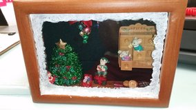Christmas shadow box in Fort Irwin, California